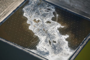 Frozen Mine Pond Aerial Photo