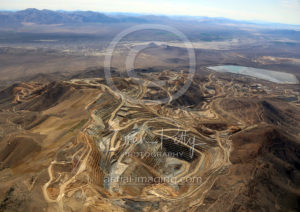 Wide Aerial View of NV Mining Operation