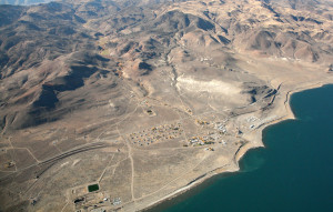 pyramid lake nevada aerial photography image