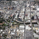 Reno downtown Wingfield aerial photography image 2011