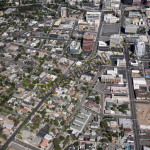 Reno downtown aerial photography image 2011