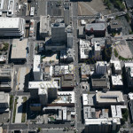 Reno downtown aerial photography image 2014