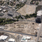 Reno downtown construction aerial photography image