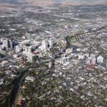 Reno downtown aerial photography image 2007