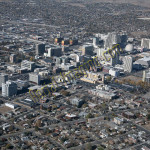 Reno downtown aerial photography image 2008
