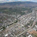Reno downtown aerial photography image 2010
