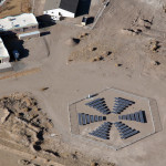 solar panel array aerial photography image