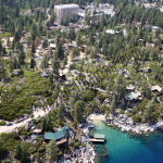 lake tahoe beach boat aerial photography image
