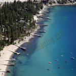 lake tahoe piers boat aerial photography image