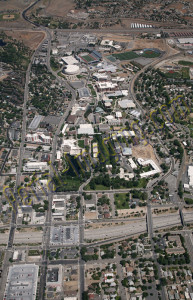 reno university aerial photography image