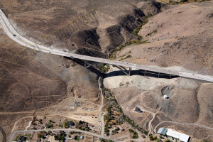 bridge aerial photography image Reno Nevada