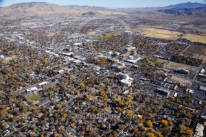 Downtown Carson City Aerial View Colorful Trees