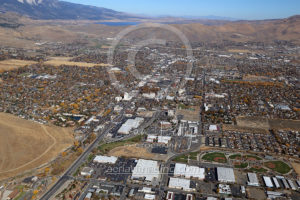 Wide Aerial View Carson City Nevada