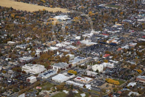 Excellent Aerial View Downtown Carson City, Nevada
