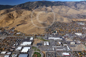 Carson City, Nevada Aerial View West Side