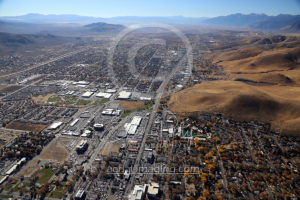 Carson Valley Aerial View in Nevada