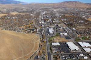 Downtown Aerial View Nevada Capital Carson City, Nevada