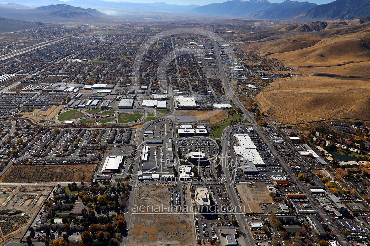 carson aerial nevada nv gardnerville aerials minden lake washoe looking south downtown flag