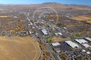 Aerial View Carson City Looking North