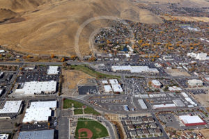 Carson City Downtown Retailers Aerial View
