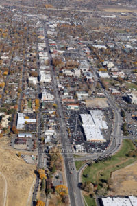 Downtown Carson City Aerial View During Nevada Day Parade