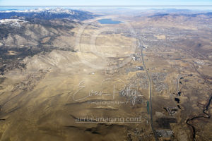 Wide Aerial View of Carson Valley 2017