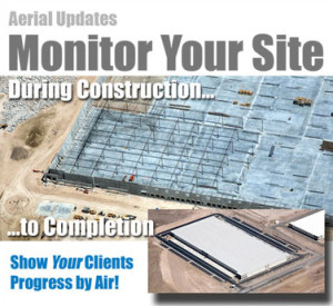 Monthly aerial construction updates