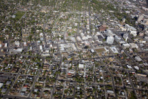 Aerial View of Reno Downtown 2017