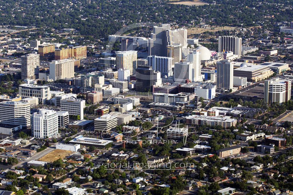 Downtown Reno Aerial from 2017