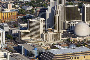 Aerial Shot of Downtown Reno, NV from 2017