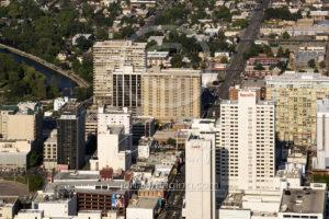 Casino Reno Downtown Buildings Aerial View 2017