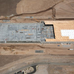 aerial construction progression photography
