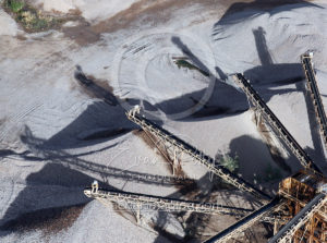 Aerial View of Moving Tailings