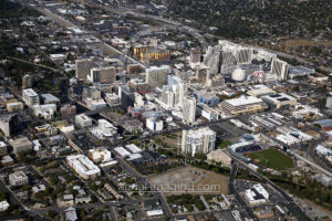 Aerial Shot of Downtown Reno, Nevada 2017 Aerial Photography