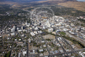 Aerial View Downtown Reno, Nevada 2017 Aerial Photography
