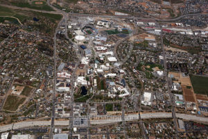 Aerial of UNR Reno, NV from 2017
