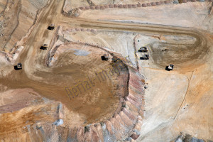 mining aerial photography nevada image