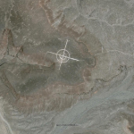 This is a bombing target in a restricted part of Nevada Google Earth location : 37.563838,-116.85115