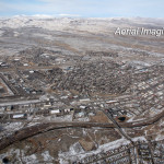 Elko Nevada Downtown Aerial