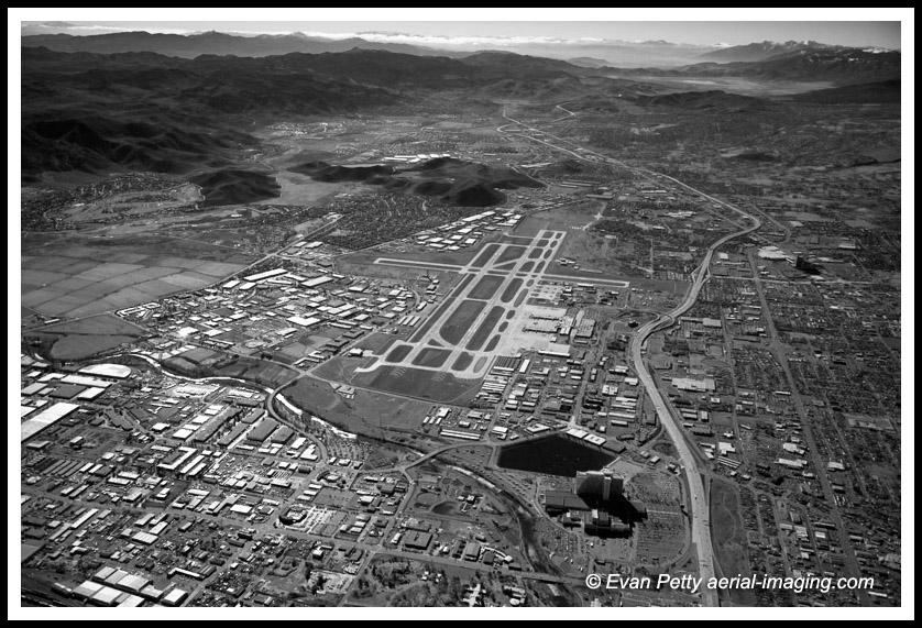Reno RNO South aerial Washoe Rattlesnake Mountain