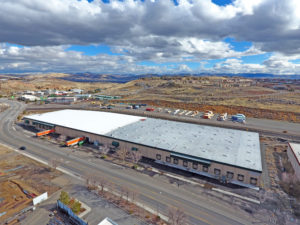 Drone Aerial Shot of an Industrial Building