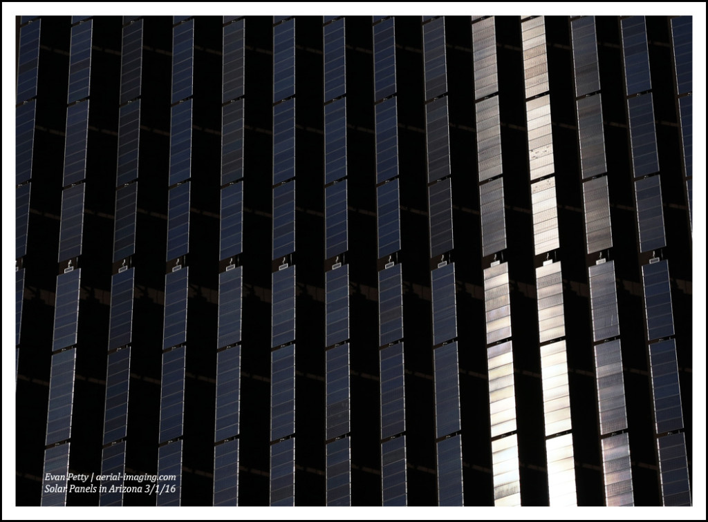 Aerial Solar Panel Reflection