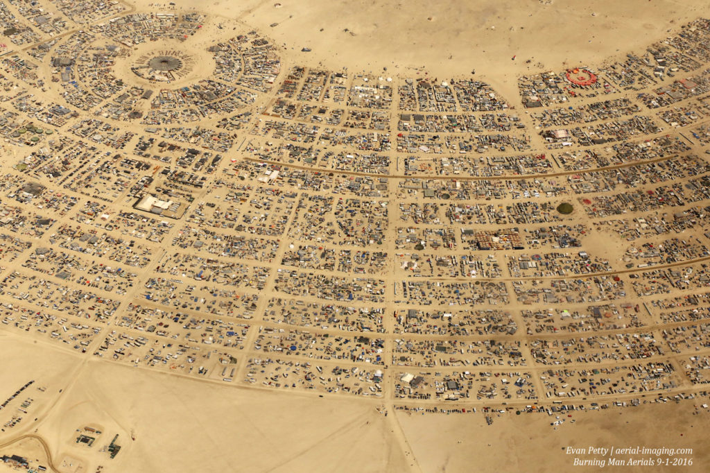 Burning Man from the Air