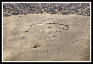 Aerial View of Burning Man 2019 Black Rock Desert