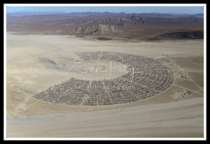 Aerial View Burning Man 2019 Black Rock City