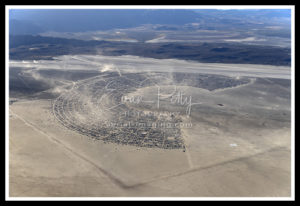 Aerial Dust View Burning Man 2019 Black Rock City