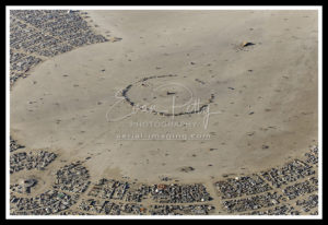 Aerial Print Black Rock Photo Burning Man 2019