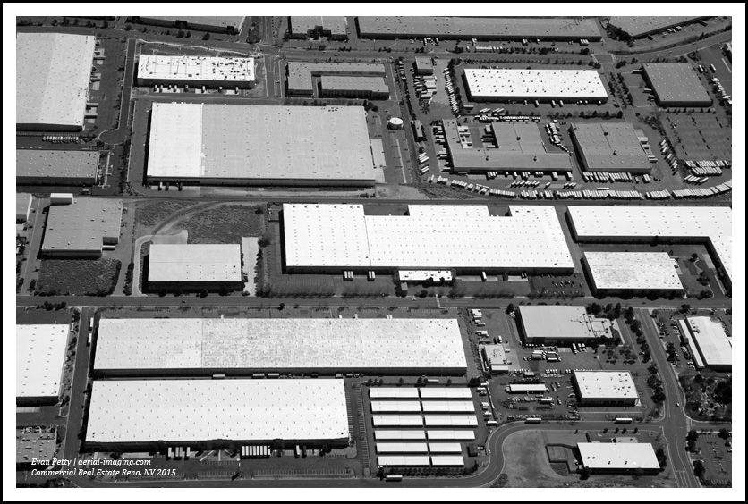 Aerial image of Industrial Warehouse in Sparks, NV