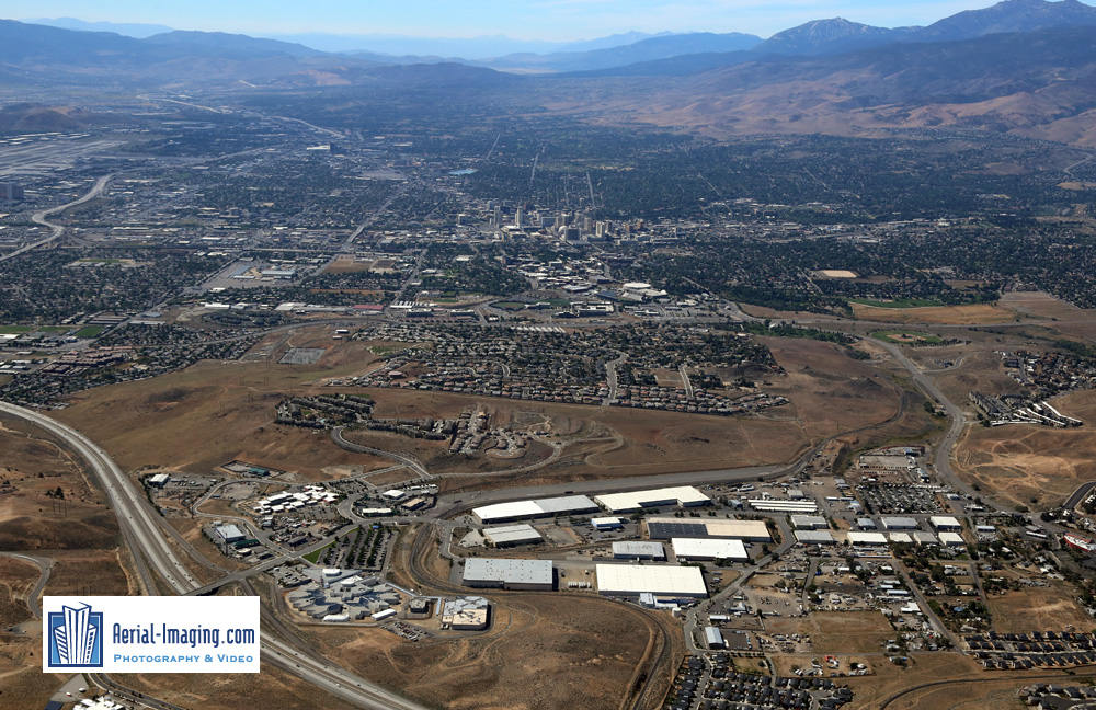 Aerial View in Reno for Commercial Real Estate