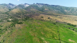 Ruby Mountains Land Offering aerial view